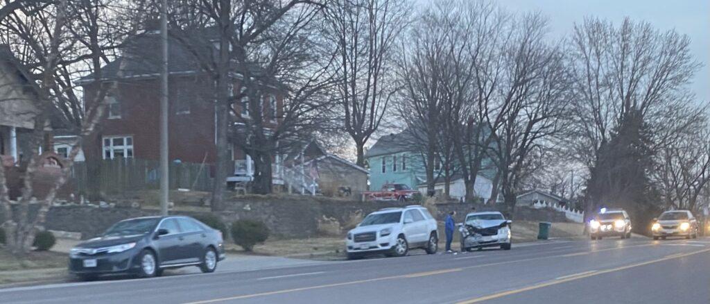 Multi vehicle car crash